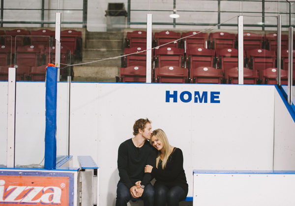 Hockey Engagement Session with Brittany & Bryan Little