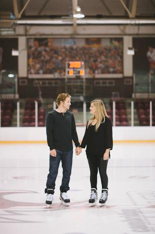 hockey engagement session