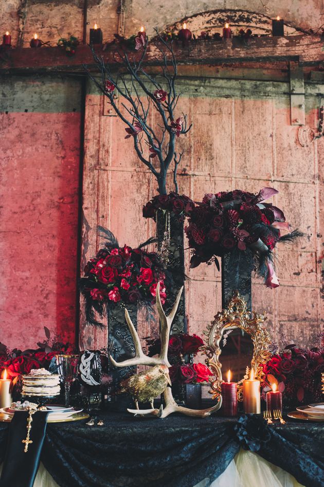 Alexander mcqueen high fashion wedding inspiration shoot toronto wedding photographers - Halloween decorations toronto ...