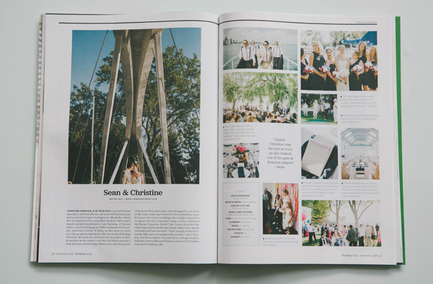 Featured Weddings in Toronto Life Magazine