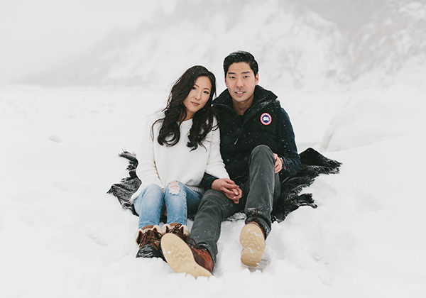 Snowy Engagement Session in Toronto