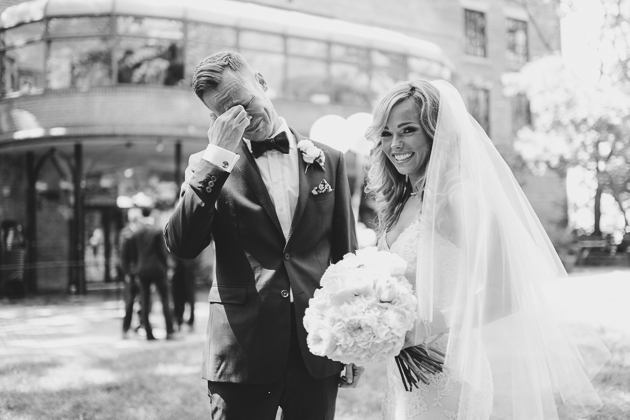 First Look Wedding Photo in Toronto