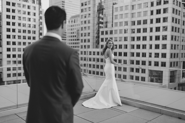 First Look wedding photo in Malaparte Toronto