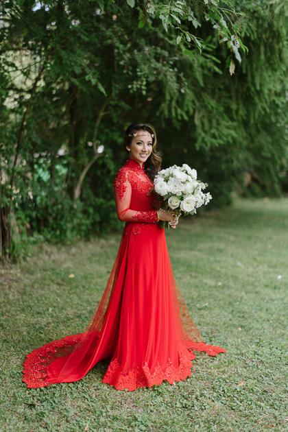 red wedding qipao