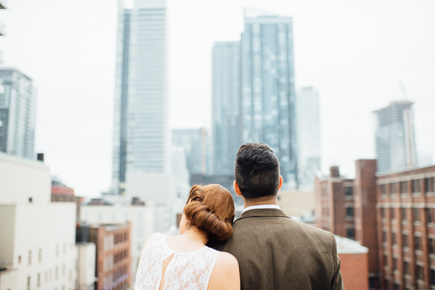 Toronto engagement session on a roof top