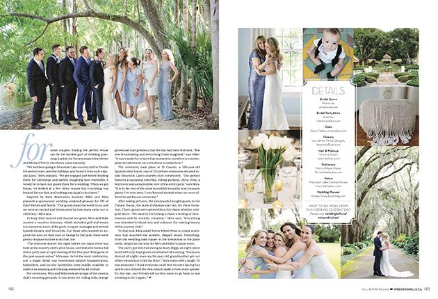 Chic wedding in Florida