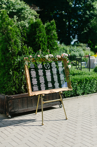 Casa Loma Wedding Toronto, wedding details photography. Gold framed seating guest seating chart.