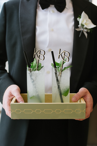 The Chase Toronto Wedding Photography. Custom laser cut wood drink stirrers.