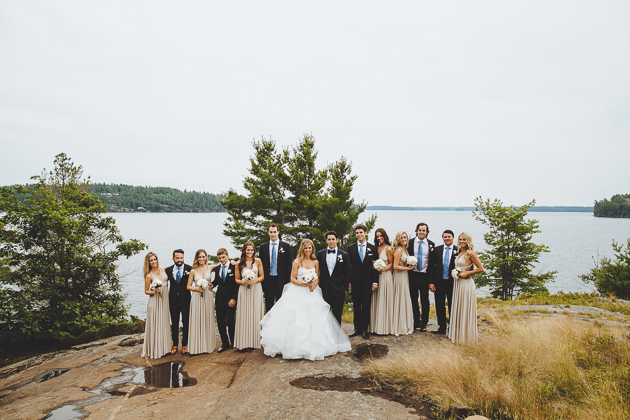 Muskoka Wedding Toronto Photography. Outdoor portrait photography of the bridal party.
