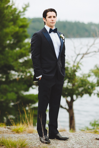 Muskoka Wedding Toronto Photography. Portrait photography of the groom outdoors before their ceremony.