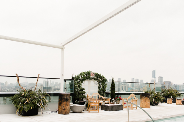 Lavelle Toronto Wedding Photography. A rooftop experience Toronto's exclusive King West neighbourhood with lounge bar, outdoor pool and cabanas.