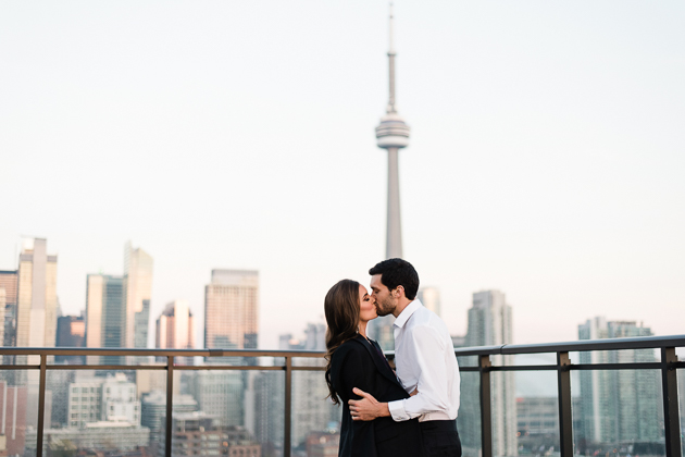 Lavelle Toronto Couple's Photography. The newly engaged couple share a sweet kiss.