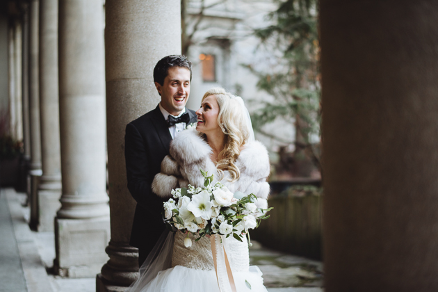 Liberty Grand Wedding Venue. Bride and groom portrait photography.