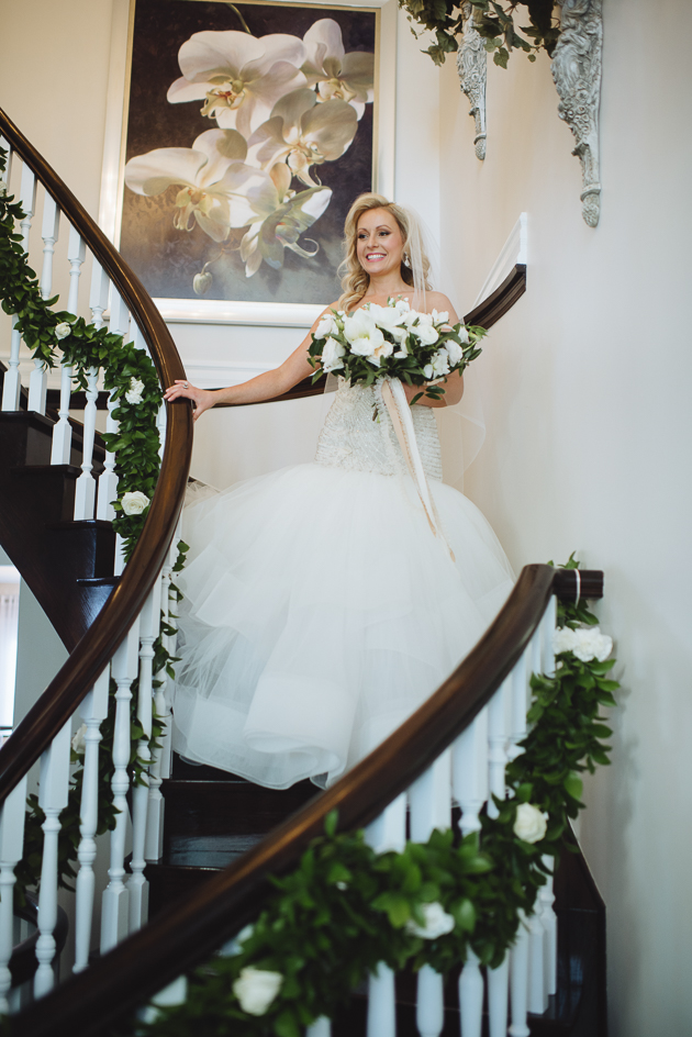 Liberty Grand Wedding Venue. The bride reveals her wedding look to family and friends.