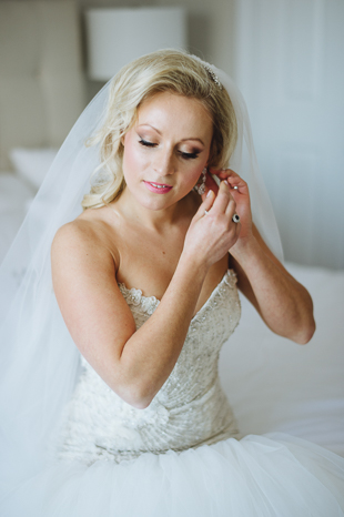 Liberty Grand wedding photography of bride getting ready.