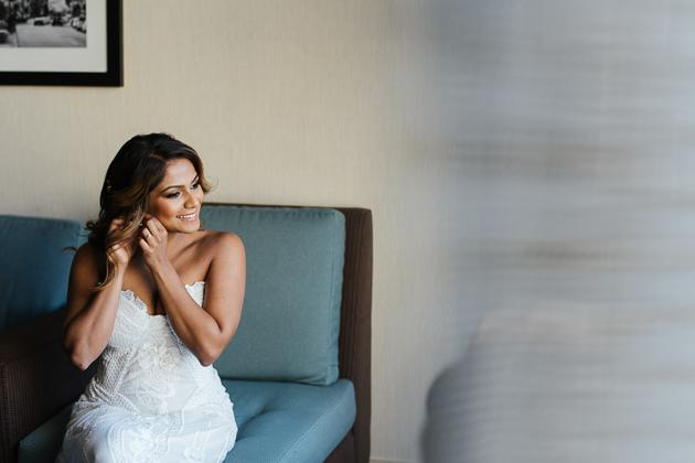 Top Toronto Wedding Photographer. Bride getting ready photo session at home.