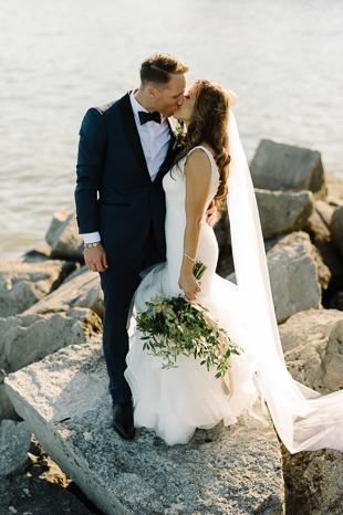 Sunset kiss at the Holcim Estate wedding