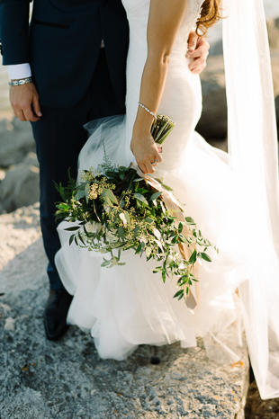 Organic loose greenery bouquet at Holcim Estate wedding