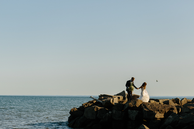 Sunset wedding photo shoot at Holcim Estate