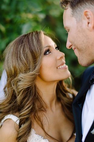 Bride's loving eyes at Holcim Estate wedding