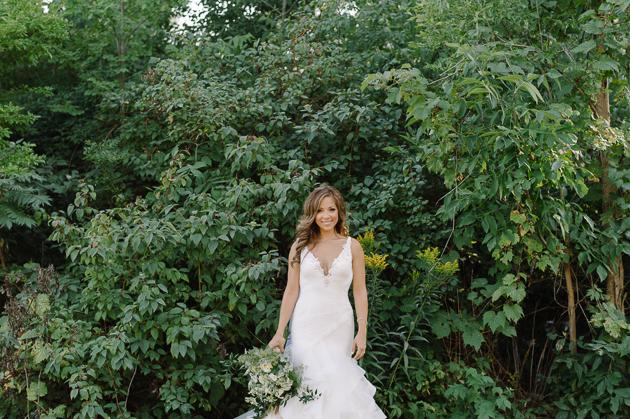 Beautiful bride smiling at Holcim Estate wedding