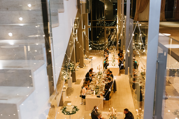 Editorial Wedding Photographer. Toronto Royal Conservatory of Music Wedding Venue. Understated, romantic, elegant and stylishly decorated with fairy lights that mage the evening absolutely magical.