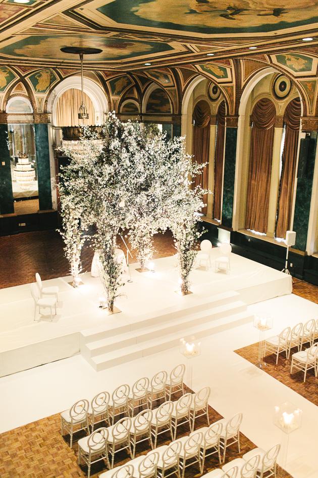 spectacular wedding ceremony chuppah at Fairmont Royal York
