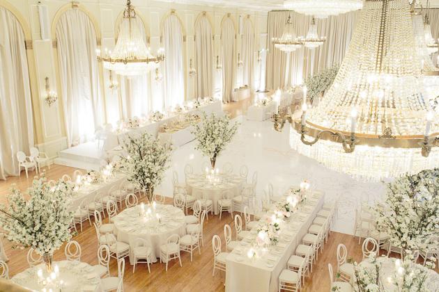 stunning wedding reception at fairmont royal york