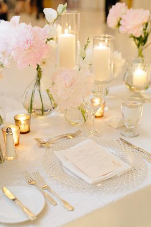 blush peonies at a stunning wedding at Fairmont Royal York