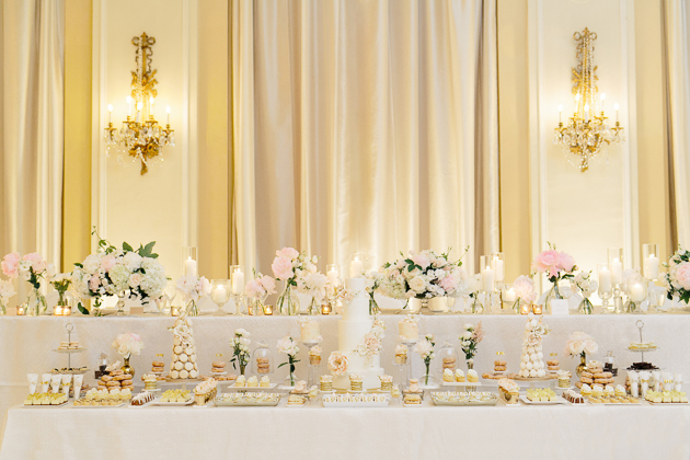 can't believe this sweet table at Fairmont royal york wedding