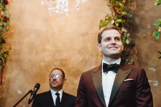 Fermenting Cellar Toronto Wedding Photographer. The groom giving a wedding speech.