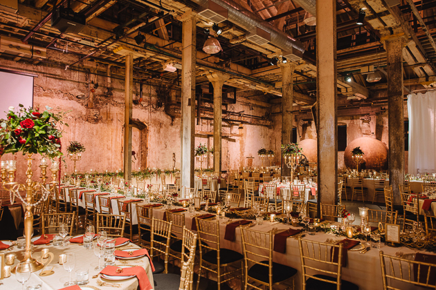 Fermenting Cellar Toronto Wedding Photographer. Idustrial chic and romantic wedding venue with exposed structural beams.