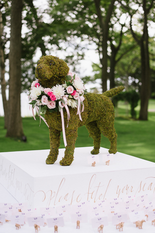 adorable dog inspired table place card setting