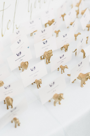 adorable dog inspired table place card holders