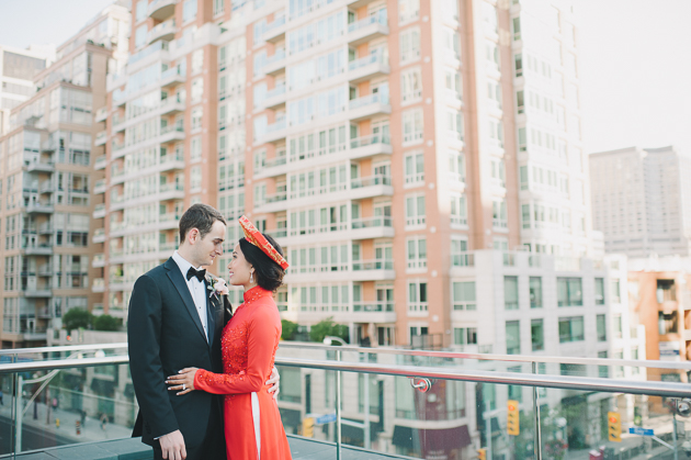 Golden light and this rooftop wedding were meant for each other
