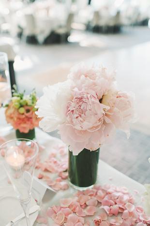 Blush peonies wedding inspiration