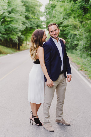 The best engagement photos are candid. Find more engagement photo ideas on the blog.
