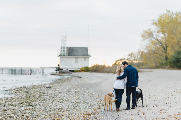 Cherry Beach engagement pictures are adorably cute