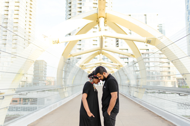 This couple used the Concord Cityplace bridge for their engagement pictures are the photos are amazing!