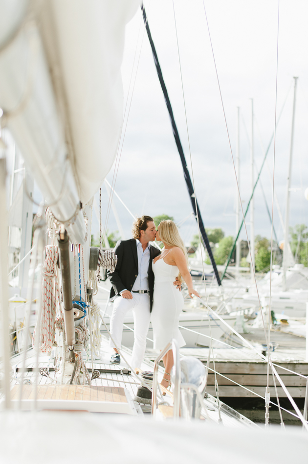 Engagement pictures on a yacht are undeniably classy