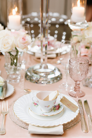 Perfectly mismatched china set at Graydon hall Manor wedding
