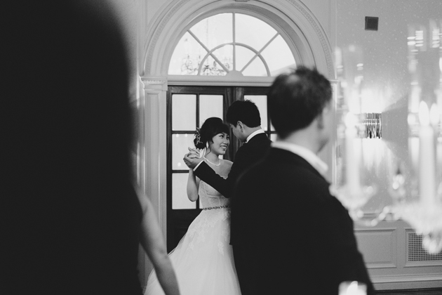A bride and groom's first dance at their Graydon Hall Manor wedding
