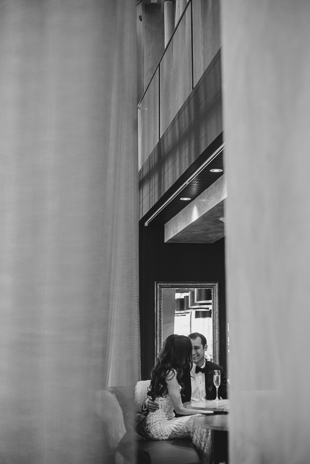 Catching an intimate moment in the lobby of Ritz Carlton