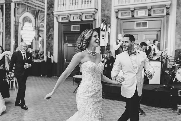 A Groom And Brides Big Entrance During Their Wedding Reception