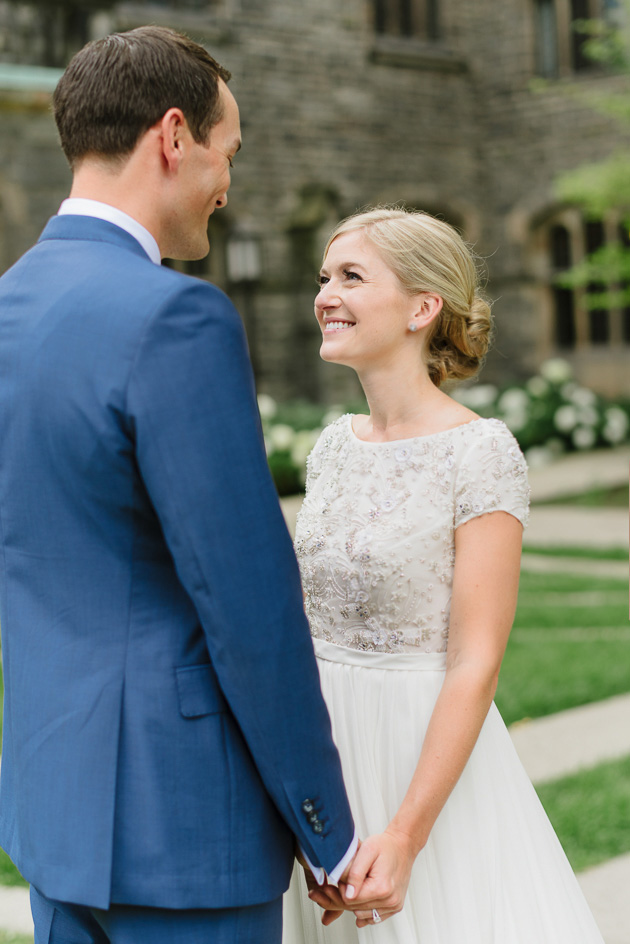 Smile is the bride's best jewel! Our beautiful bride and groom during their wedding photo shoot at the U of T