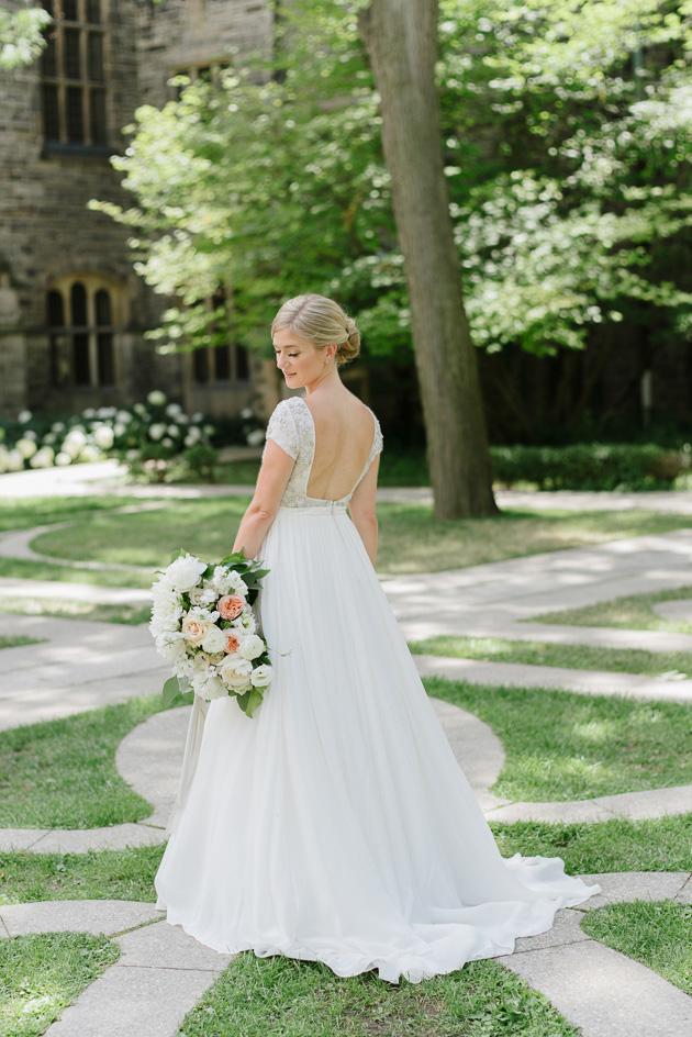 A bride dancing at the U of T