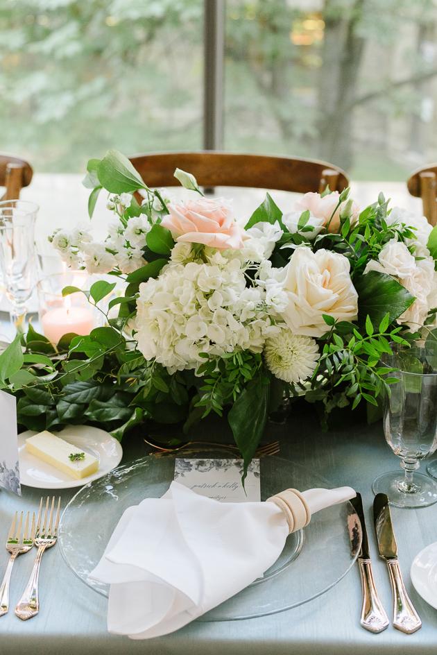 Organic flower arrangement inspiration at Royal Conservatory of Music wedding