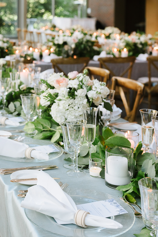 Organic wedding flowers at Royal Conservatory of Music