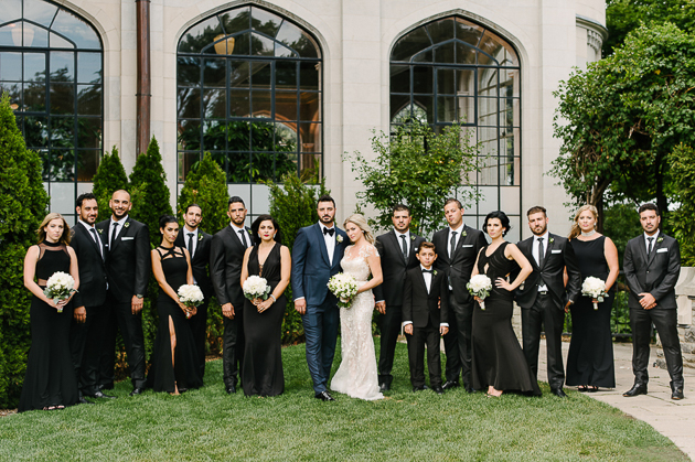 Essential bridal party photo for the suit and tie wedding reception