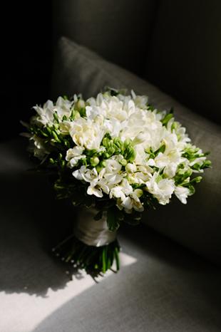 A tender bridal bouquet